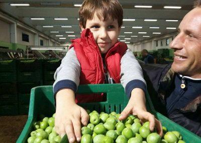 Bimbo con olive